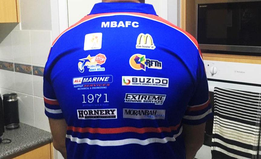 Buzido sponsors the Moranbah Bulldogs AFC
