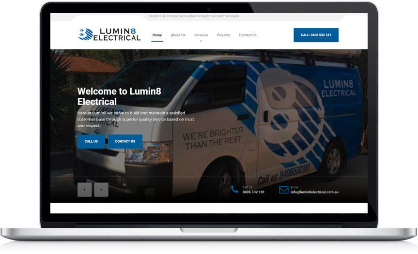 lumin8 electrical electrician website